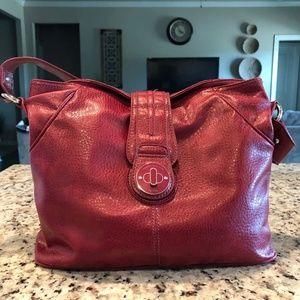 Tommy Hilfiger Vintage Purse Red Snake Leather
